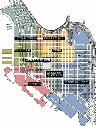 Downtown San Diego Neighborhoods Map