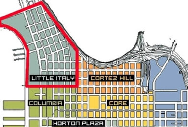 Little Italy Downtown San Diego Map